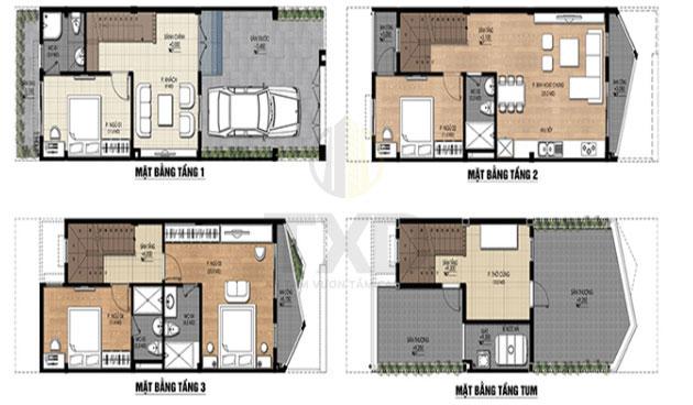 Hình ảnh minh họa về cách tính diện tích của các sàn