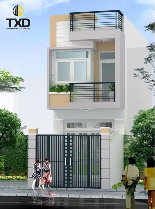 Thiết kế nhà 2 tầng đơn giản - Mẫu nhà ống 2 tầng hiện đại