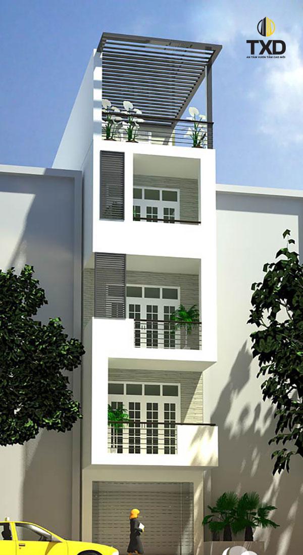 Cấu trúc của mẫu nhà này vô cùng tinh tế và cầu kỳ với nhiều họa tiết và đường nét đẹp mắt
