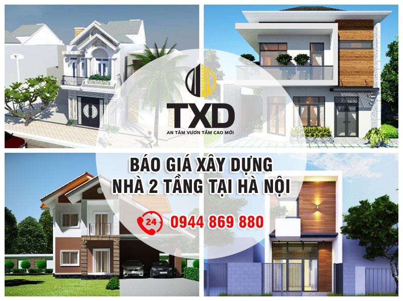 Báo giá xây nhà 2 tầng trọn gói tại Hà Nội
