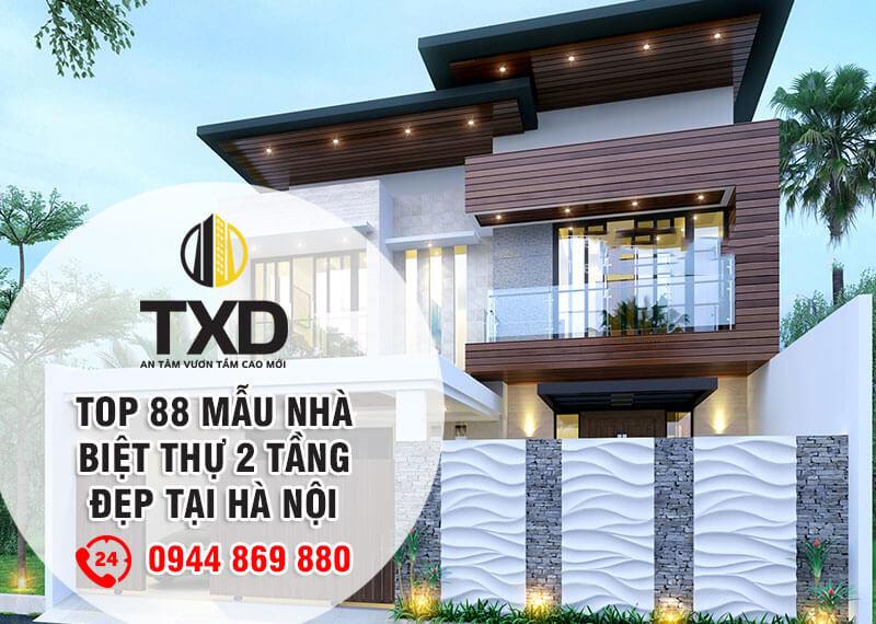 TOP 88 Mẫu Nhà Biệt Thự 2 Tầng Đẹp Hợp Phong Thủy 2020