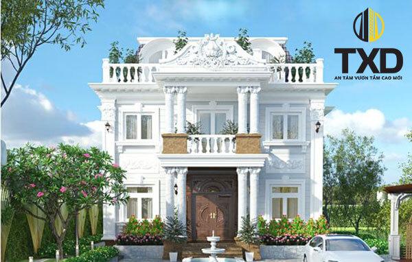 Những mẫu thiết kế nhà biệt thự vườn 2 tầng mái thái đẹp