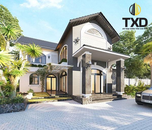 Thiết kế nhà biệt thự mini 2 tầng 100m2