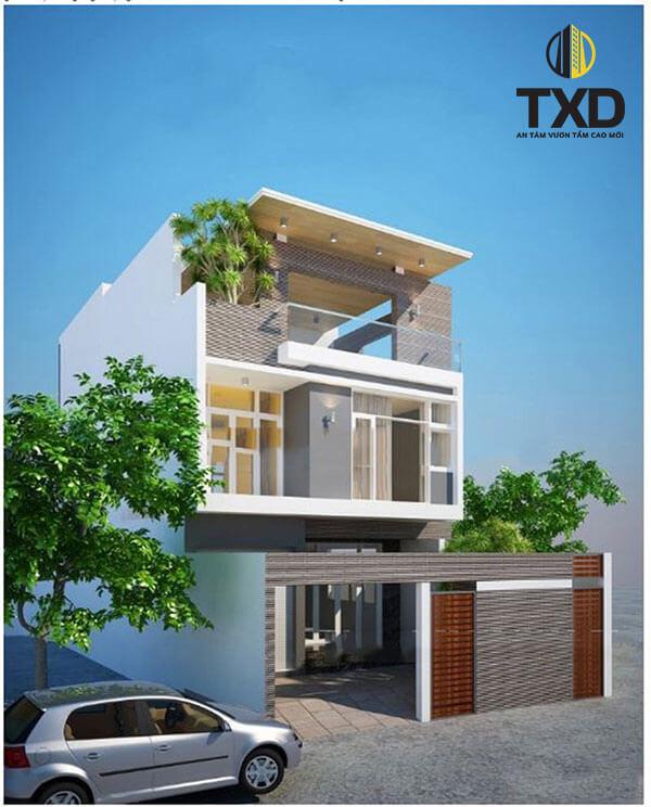 Kiểu biệt thự mini 100m2 2 tầng dành cho khách hàng