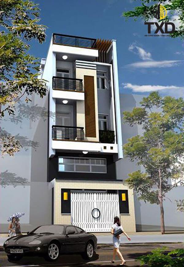 Tư vấn mẫu thiết kế nhà 4 tầng đẹp nhất kèm bản vẽ