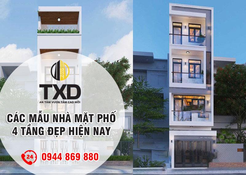 Top các mẫu nhà mặt phố 4 tầng đẹp, hiện đại nhất hiện nay