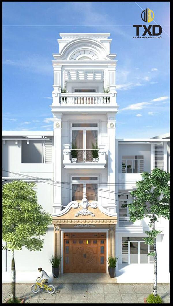 50 mẫu thiết kế mặt tiền nhà phố 4 tầng đẹp hiện đại năm 2020