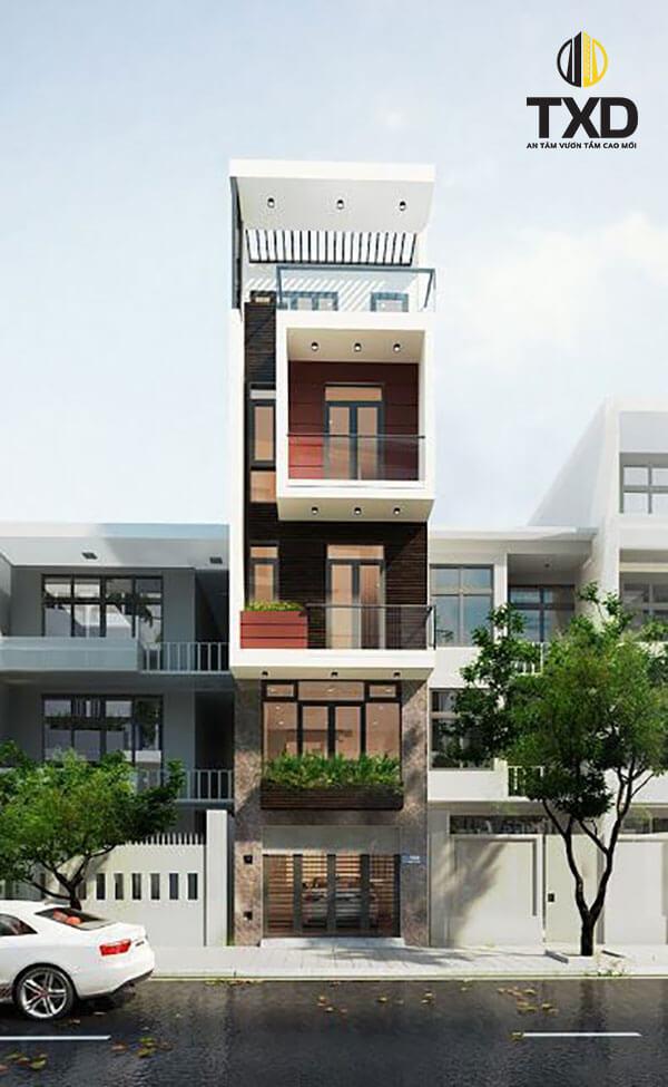 Mẫu nhà đẹp mặt tiền 4m xây 4 tầng hiện đại tại Hải Phòng